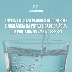 ANVISA atualiza padrões de controle e vigilância da potabilidade da água com portaria GM/MS Nº 888